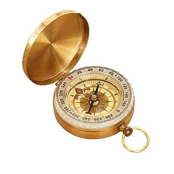 ef82a00966 carwin 方位磁针 羅針盤 方位磁石 方向指示 コンパス 黄銅合金 アウトドア キャンプ 登山 ハイキング【