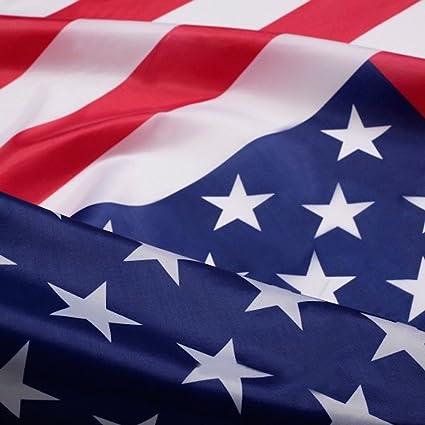 amazon com printed american national flag banner size 3 x 5