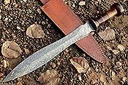 Custom Hand Forged Damascus Steel DOLCH Greek/Roman Sword/Dagger/GLADIOUS Hunting Gladiator Sword