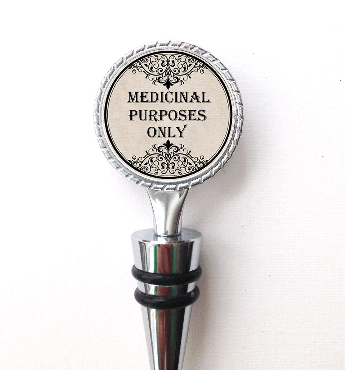 Medicinal Purposes Only Funny Wine Bottle Stopper