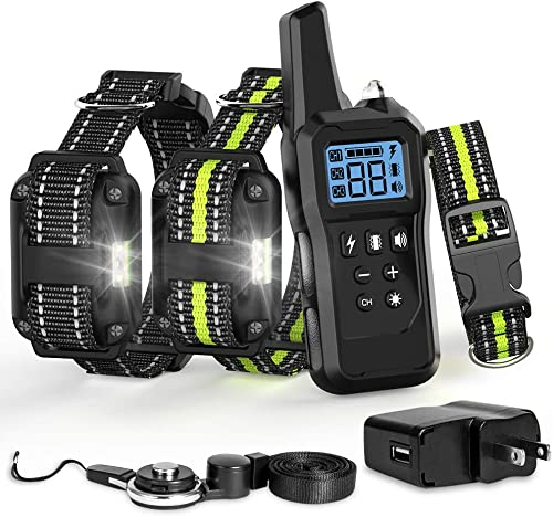 Ace Teah Dog Shock Collar with Remote, Dog Training Collar for Large 2 Dogs