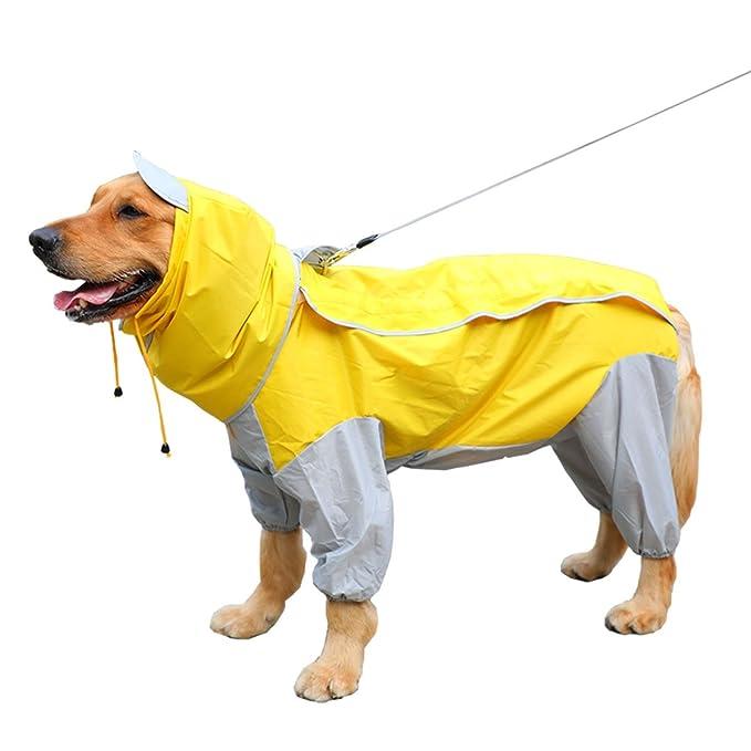 SASA Gabardina para Perros Traje Impermeable de Cuatro Patas Perros medianos y Grandes Golden Retriever Labrador Impermeable Grande para Perros Ropa Impermeable para Mascotas Camouflage