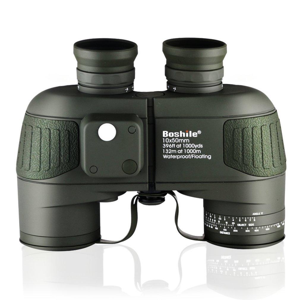 ibaoiob 10 x 50 mm防水双眼高双眼鏡望遠鏡bak4プリズム、FMCフィルムコーティングレンズ、内蔵コンパスとライトナビゲーション B07G3BLKVZ