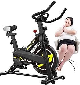 YUHT - Bicicleta estática de interior, silenciosa, para deportes ...