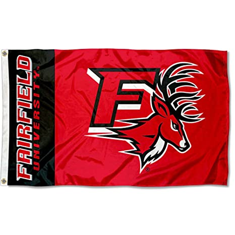 the best attitude 3a204 43063 College Flags and Banners Co. Fairfield University Stags Flag
