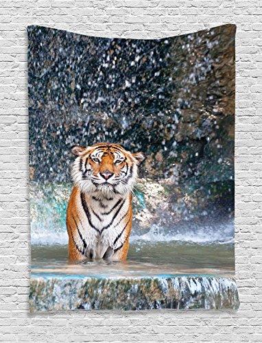 Waterfall Tapestry Ambesonne Majestic Wildlife