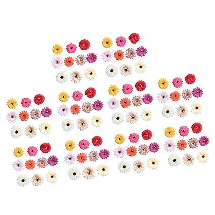 Mazzo Di Fiori Emoticon.Flameer Lotto Di 100 Fiori Artificiali Mazzo Di Fiori