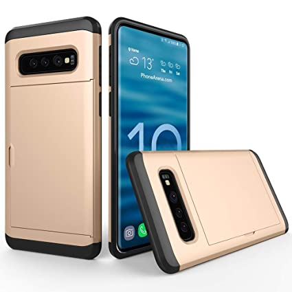 62cc08560371 Amazon.com: Compatible with Galaxy S10 Case Slider Card Slot ...