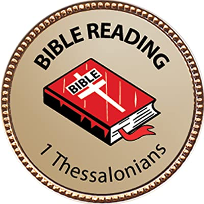 Keepsake Awards 1 Thessalonians Bible Reading Award, 1 inch Dia Gold Pin Bible Reading Achievements Collection: Toys & Games