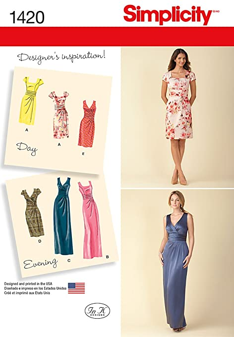 Simplicity Sewing Pattern 1420 - Dress & Bodice in Two Lengths Sizes ...