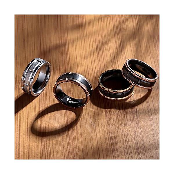 Caperci-Mens-8mm-Brick-Pattern-Tungsten-Wedding-Band-Ring