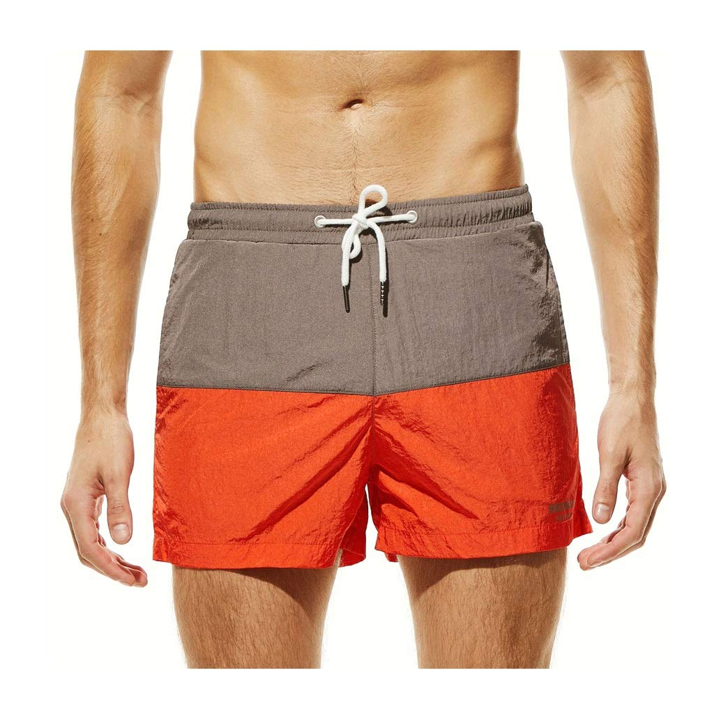 IJUGIU Men's Beach Shorts Men's Shorts Surfing Breathable Waterproof Sports Leisure Home (Color : 1, Size : S)