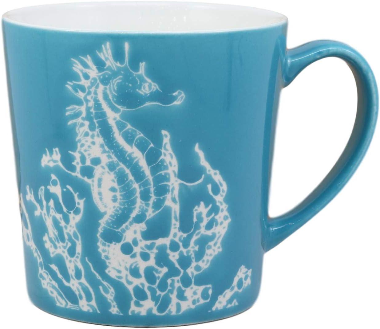 Ebros Nautical Seahorse Stoneware Ceramic Mug