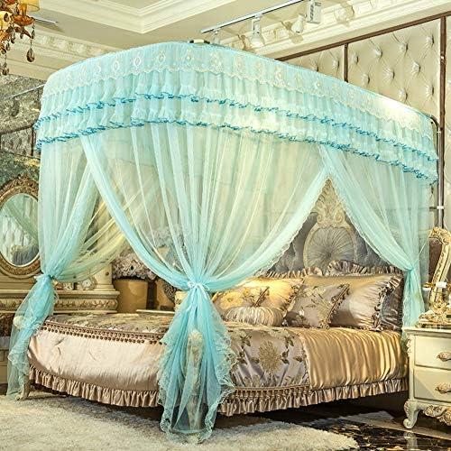 姫ベッドキャノピー,暗号化糸蚊帳 引き込み式 ヨーロッパコート ラグジュアリー ベッド キャノピー の-形 ベッド カーテン-