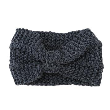 Amazon Guangqi Women Girls Knitted Headbands Crochet Bow Head