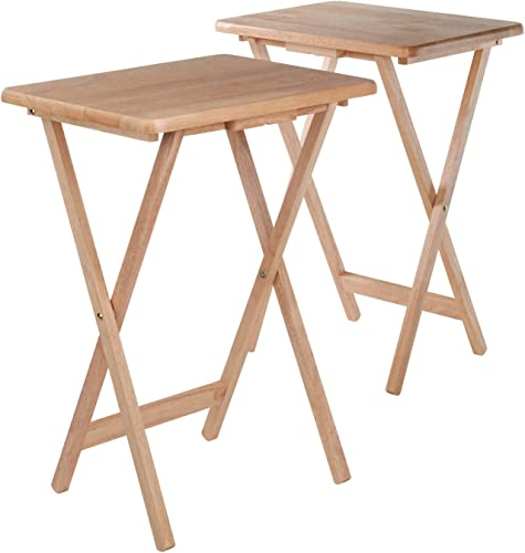 Winsome Wood 42290 Alex 2-pc Set TV Table, Natural Renewed