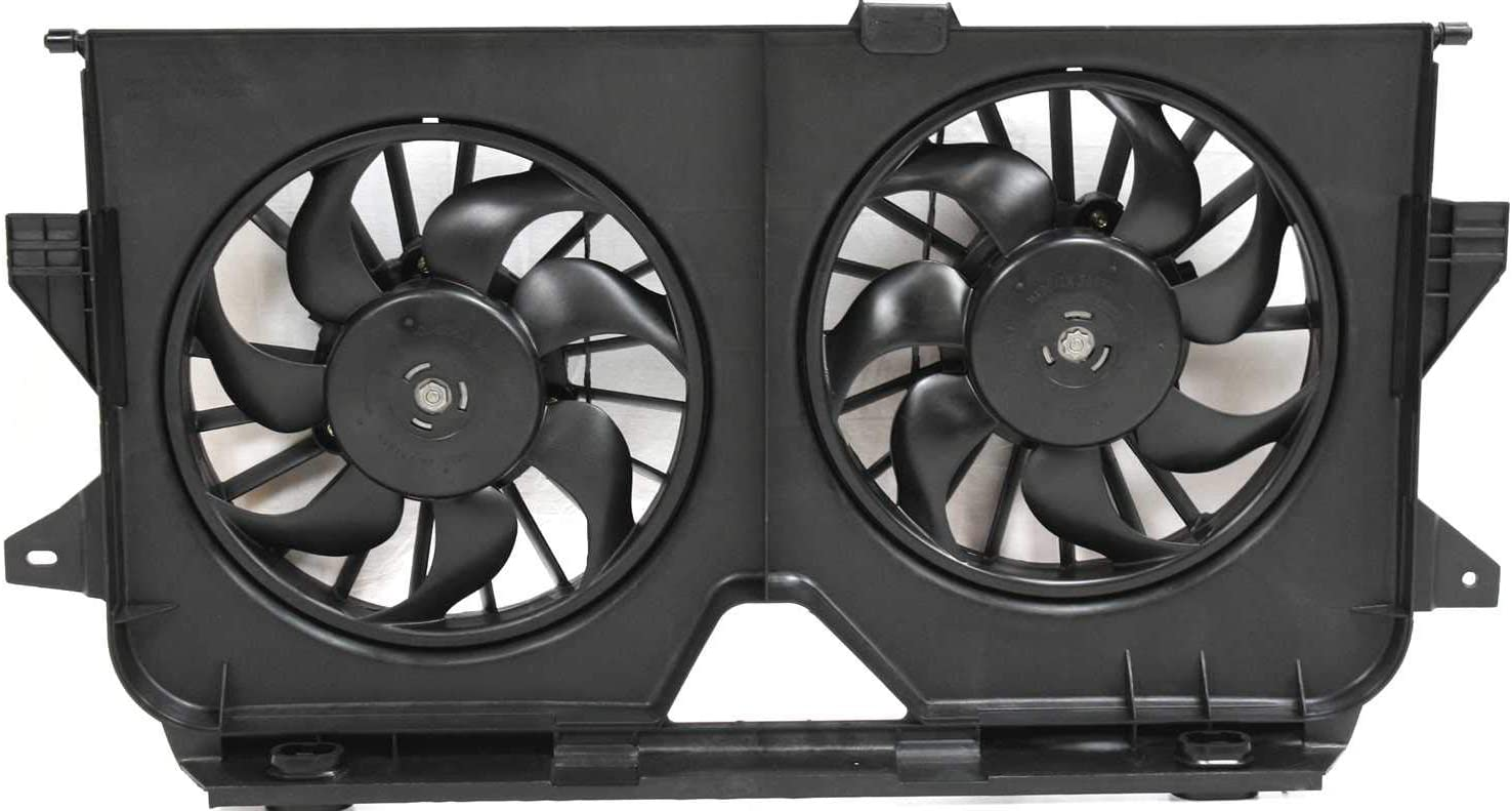 Radiator Fan Assembly for Dodge Caravan/Grand Dodge Caravan/Chrysler Town and Country 05-07 Dual