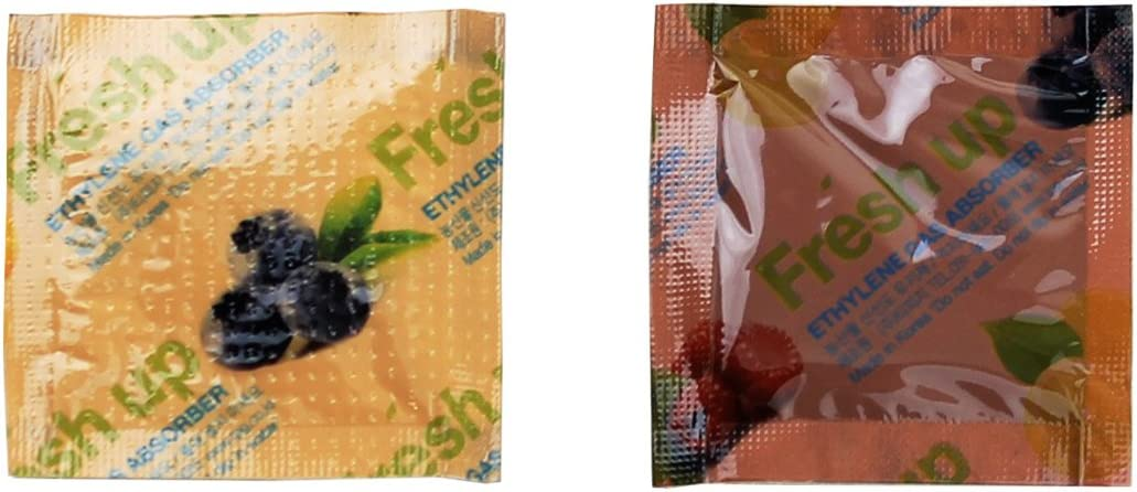 2 Gram (30 Pack) Premium Produce Freshness Saver Ethylene Gas Absorber – Produce Freshness Packets Produce Saver to Extend Freshness of Fruit, Vegetables, and Flowers(Easy to and Ready to use packets)