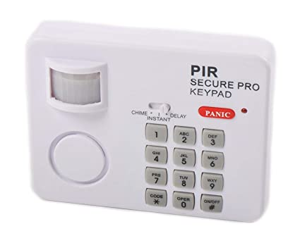 JEEJEX PIR Wireless Motion Sensor Alarm with Security Keypad for Home, Office, Door, Garage, Shed