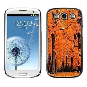 PC/Aluminum Funda Carcasa protectora para Samsung Galaxy S3 I9300 Nature Orange Woods / JUSTGO PHONE PROTECTOR