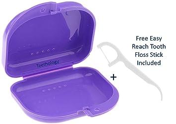 Teethology Caja para Guardabarros con ventilación – Caja para Guardabarros ortodonciales – Delgada Caja Dental ortodoncia – Caja para dentaduras