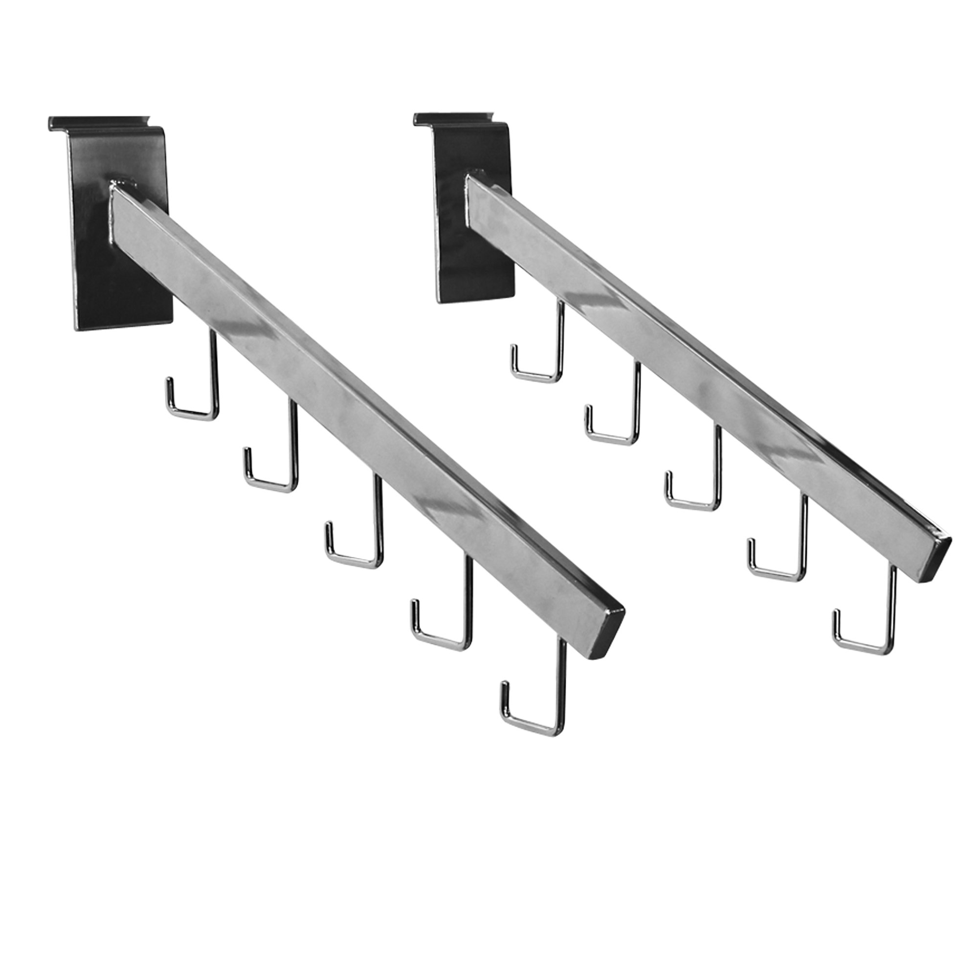 Proslat 39008 Evolia Universal Cascade for Slatwall, Chrome, 2-Pack by Proslat