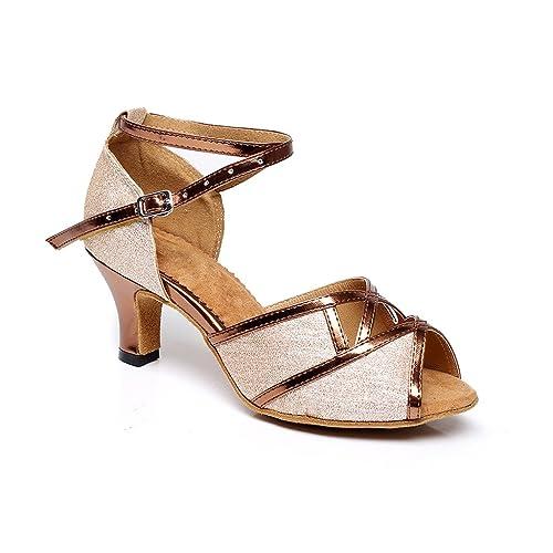 misu - Zapatillas de danza para mujer Negro negro, color Rosa, talla 36