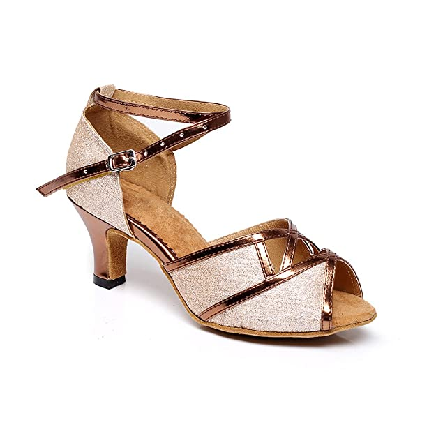 misu - Zapatillas de danza de Piel para mujer negro negro, color negro, talla 42