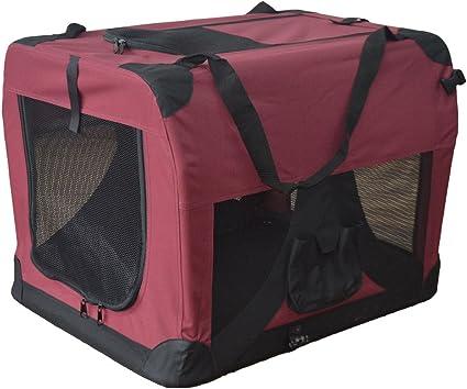 Transportín plegable para perros - Transportín de tela plegable - Caseta de perros portátil - Transporta mascotas para coches - Bolsa de transporte - Corralito para mascotas 601-D02: Amazon.es: Coche y moto