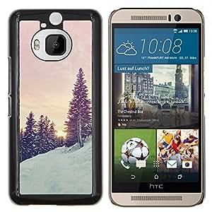 Stuss Case / Funda Carcasa protectora - Árboles de la nieve de la montaña Sunrise Sunset - HTC One M9Plus M9+ M9 Plus