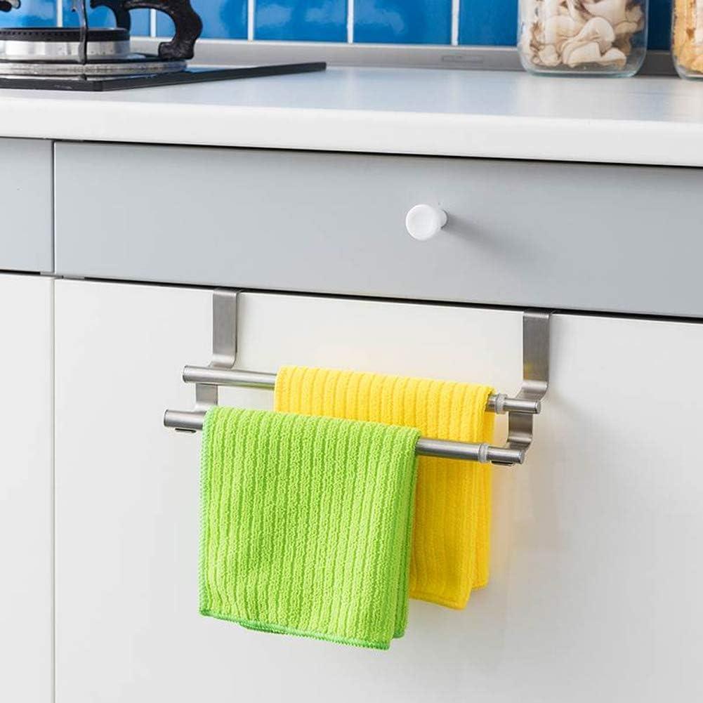 Stainless Steel Over Holder Door Kitchen Tea Towel Rail Drawer Holder  FO