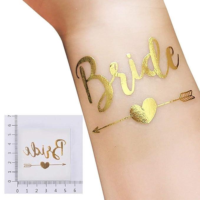25 pieza despedida de soltera Tatuajes Set, 1 Bride Tattoo y 12 ...