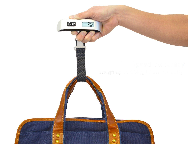 waneway Value Bundle - Báscula electrónica de equipaje maleta de pesaje de + (Cierres TSA + etiquetas de equipaje, Báscula de equipaje digital portátil ...