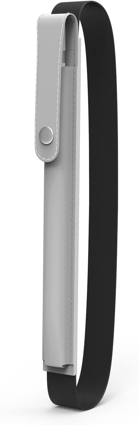 "MoKo Case Holder for i-Pencil, Elastic Detachable Pouch for i-Pencil, Fit New iPad 10.2 2019/iPad Air (3rd Gen) 10.5"" 2019/New iPad 9.7 2018(Only for i-Pencil 1st Case - Silver"