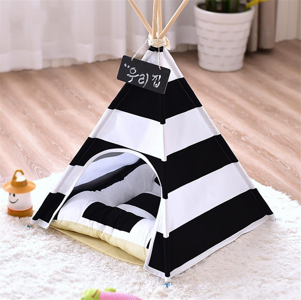 MEIQI Letto per Cani Teepee Dog House House House Toy Tent con Cuscino 55 × 55 × 65 cm 4dae0f