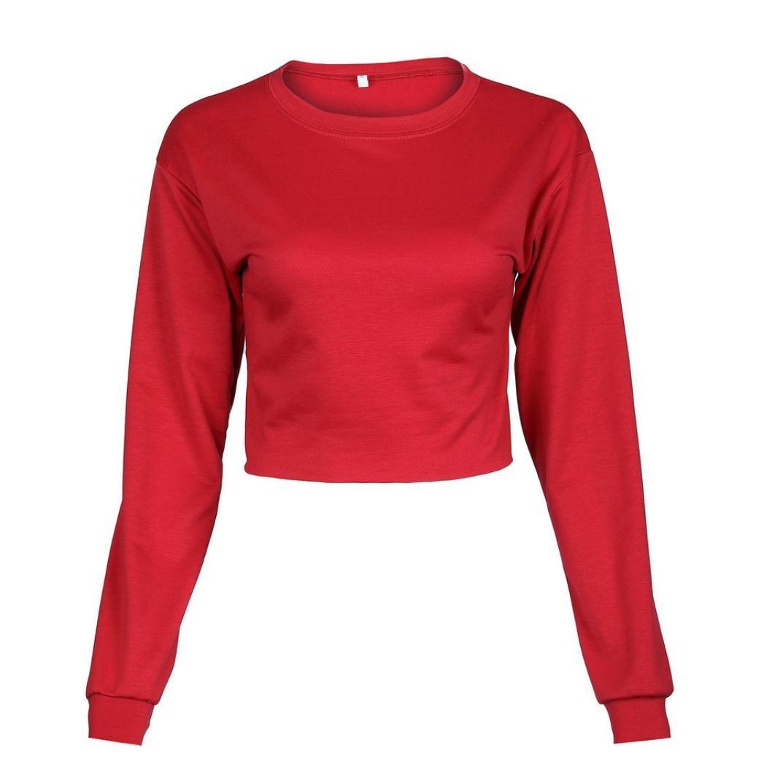 b3353624dbb97 OVERDOSE,Femme Ensemble Pantalon Jogging et Sweatshirt Hiver Sportswear  Casual Tops Court