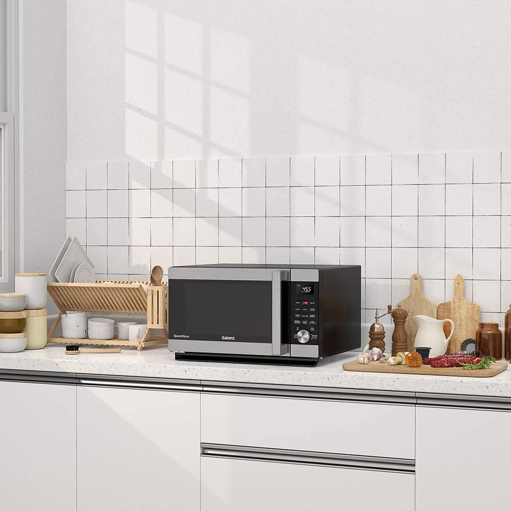 Microwave and toaster oven combination