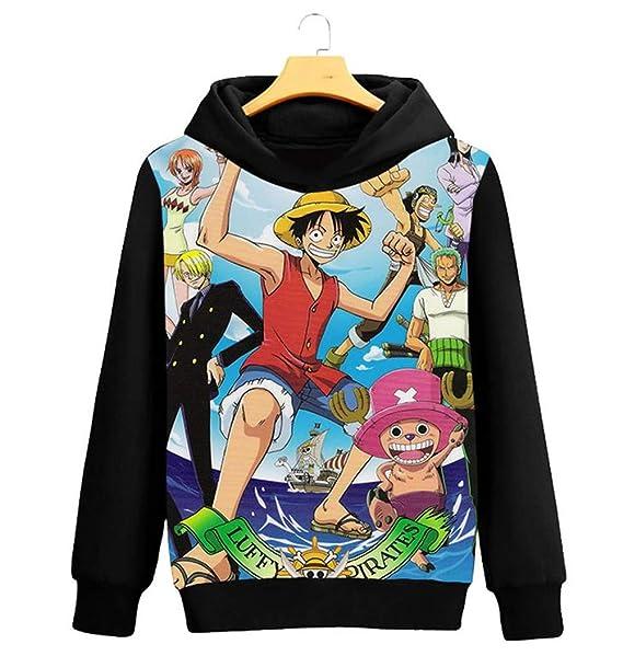One Piece Sudadera con Capucha Unisex Fairy Tail Sudadera con Capucha Unisex 3D Manga, diseño de Anime, Cosplay, Pullover SudaderasD Manga, diseño de Anime, ...
