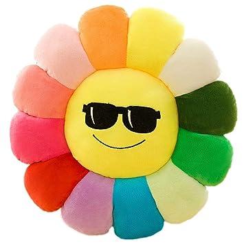 Amazon.com: XINYAO Cojín de suelo de flores Emoji suave de ...