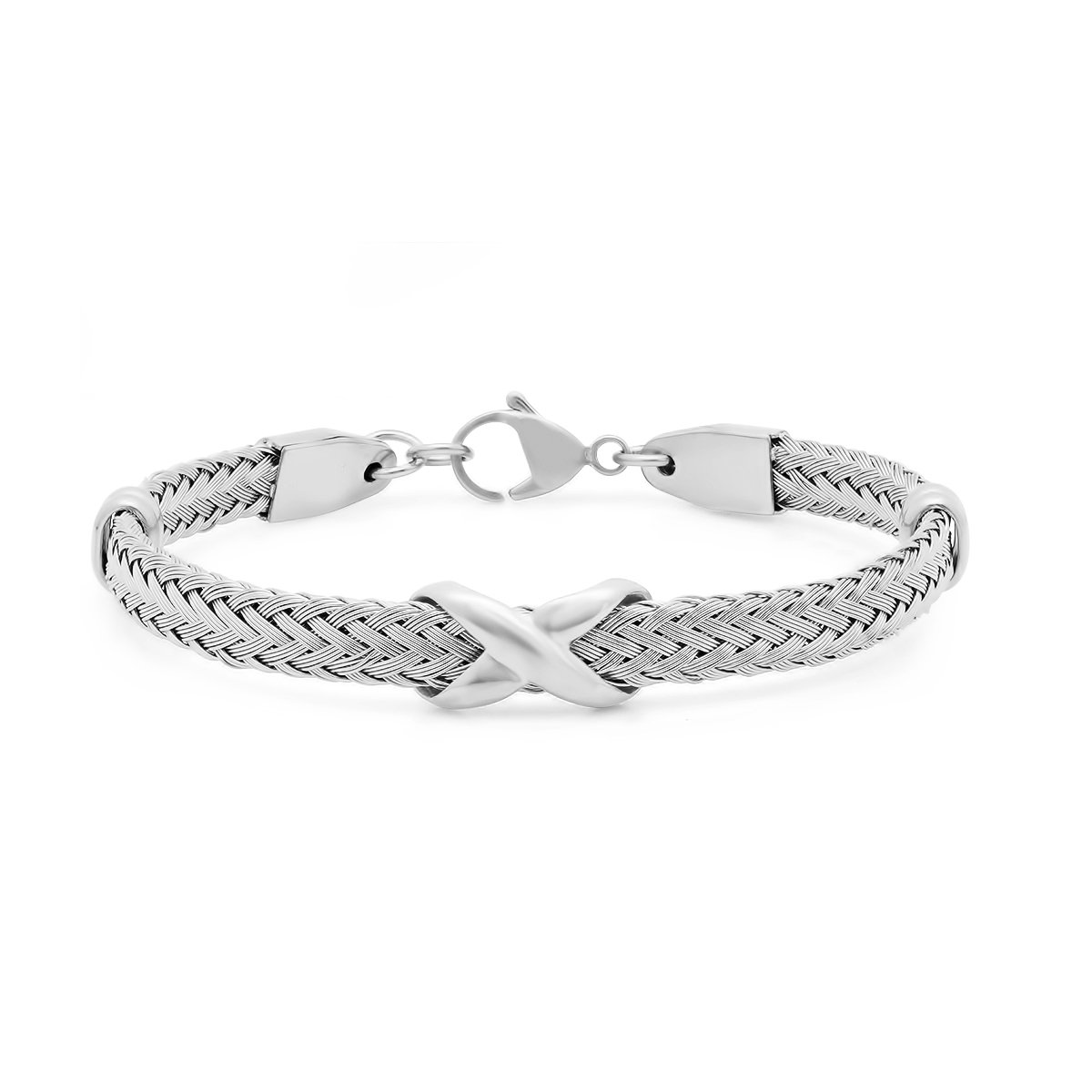 Stainless steel cable wire infinity charm bracelet