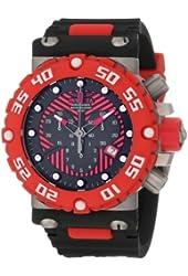 Invicta Men's 10037 Subaqua Nitro Diver Chronograph Black and Red Dial Watch