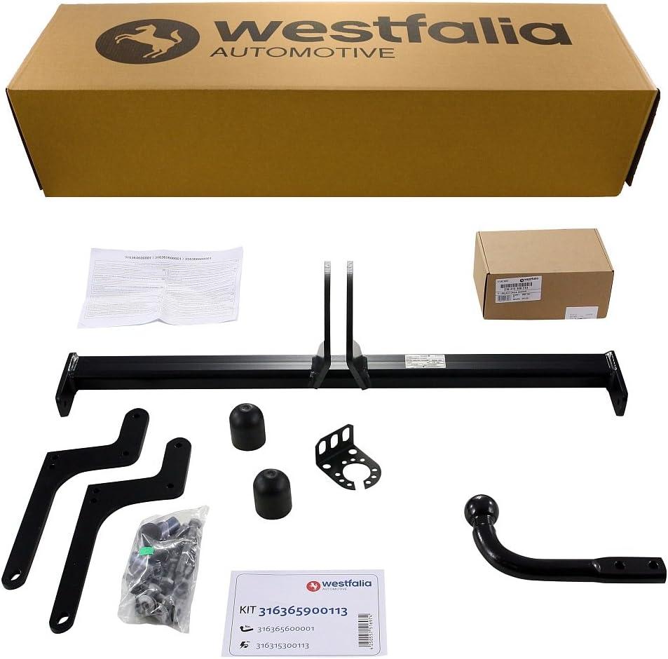 Westfalia 316365900113 Starre Anhängerkupplung Ahk Für Dacia Duster I Bj 03 10 12 17 Im Set Mit 13 Poligem Fahrzeugspezifischem Elektrosatz Auto