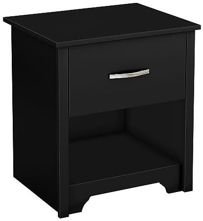 South Shore Furniture Fusion Night Stand Pure Black