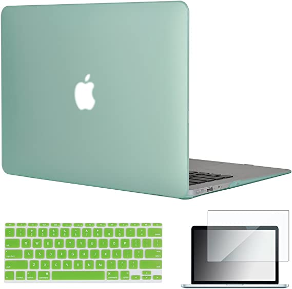 3-IN-1 For 12-inch Macbook Laptop Rubberized Cover Case Hard Shell+keyboard+Film