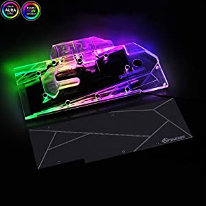Bykski GPU RTX 2080TI/2080/2070 Founders/Referemce Edition Water Liquid Cooling Graphic Card 5V 3PIN RBW LED Water Cooling Block (for MSI)