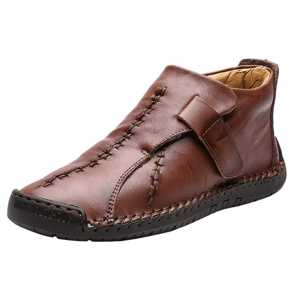 ZOMUSAR High-top Men's Casual VelvetShoes High-top Outdoor Casual Men's Ultra-lightShoes Brown by ZOMUSAR