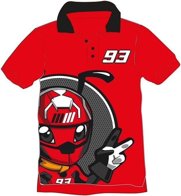 Marc Marquez 93 MotoGP - Polo infantil, Niños, rojo, 2-3 años ...