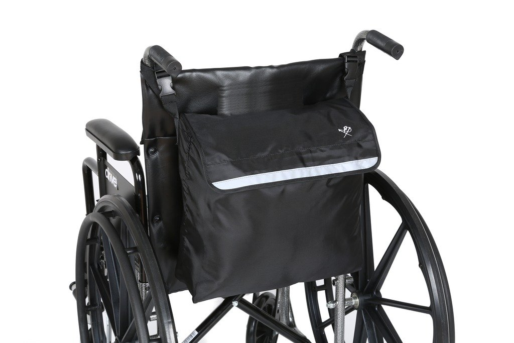 Pembrook Wheelchair Backpack Bag - Black - Great accessory pack for your mobility devices. Fits most Scooters, Walkers, Rollators - Manual, Powered or Electric Wheelchairs