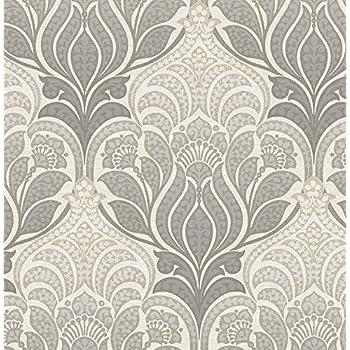 NuWallpaper NU2396 Grey Charisma Peel & Stick Wallpaper