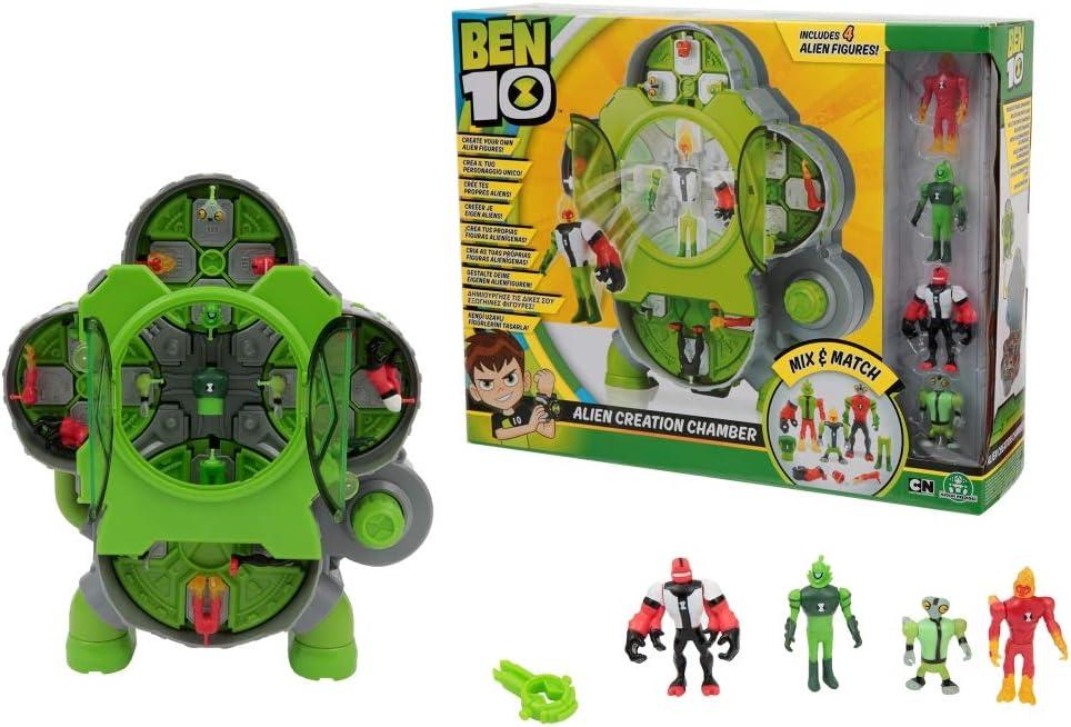 BEN 10 - Alien Creation Chamber Laboratorio Crea Aliens con 4Figuras (Giochi Preziosi BEN25000)